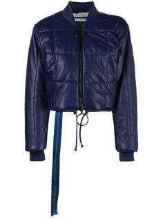 укороченная стеганая куртка-бомбер  Off-White