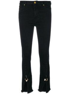 джинсы с разрезами спереди  Coliac