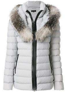 пуховое пальто с меховой оторочкой Mackage