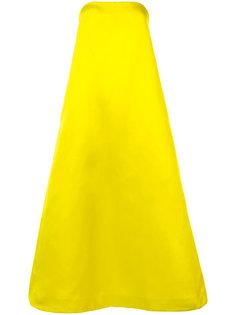 расклешенное длинное платье  Adam Lippes