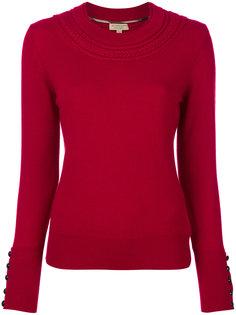 кашемировый свитер с узором косы Burberry