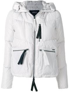 дутая куртка с молниями  Armani Jeans