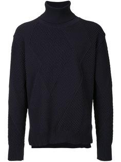 фактурный свитер  с отворотной горловиной Education From Youngmachines