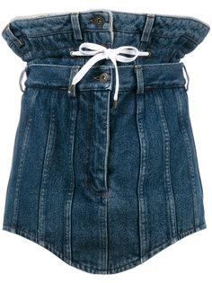 джинсовая мини-юбка с двойным поясом Y / Project