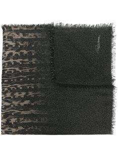 шарф с животным принтом Roberto Cavalli