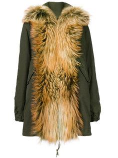 пальто-парка с воротником-шалькой из меха лисы  Mr & Mrs Italy