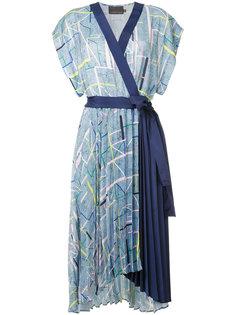 платье с запахом и геометрическим принтом  GINGER & SMART