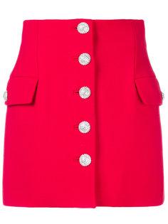 юбка с завышенной талией на пуговицах  Alessandra Rich