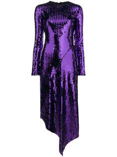 платье Clarissa из пайеток с длинными рукавами Preen By Thornton Bregazzi