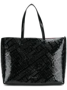 сумка-шоппер с тиснением логотипа Love Moschino