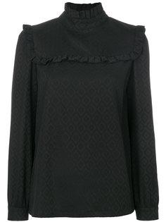 блузка с оборками и узором  A.P.C.