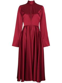 длинное платье с расклешенными рукавами  Beaufille