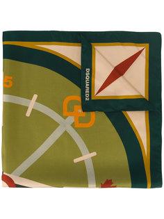 шарф с принтом компаса  Dsquared2