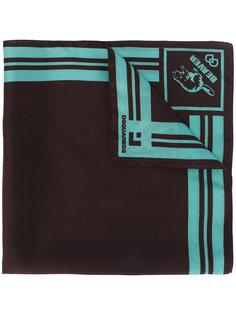 шарф с принтом бобра Dsquared2