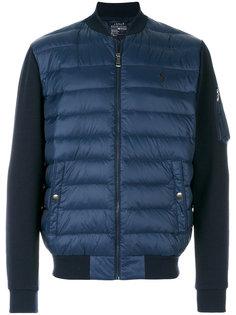 куртка-бомбер  с панельным дизайном Polo Ralph Lauren
