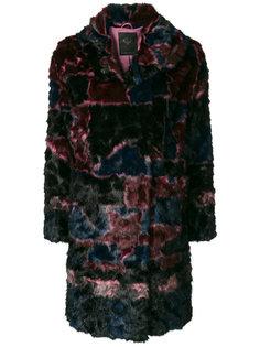 пальто из искусственного меха Frankie Morello