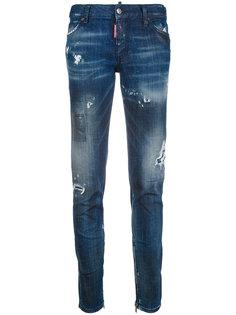 джинсы скинни с эффектом потертости Dsquared2