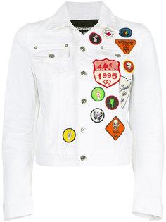 джинсовая куртка с заплатками Dsquared2