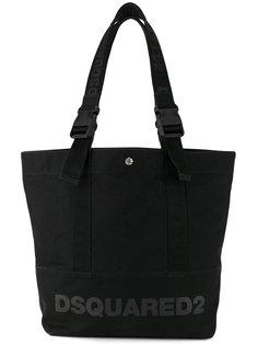 сумка-тоут с лямками с логотипом Dsquared2