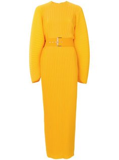 плиссированное платье с поясом  Solace London