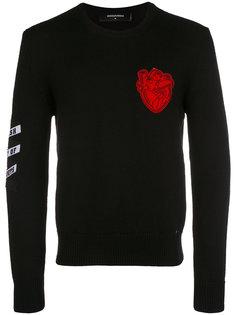 свитер с заплатками Dsquared2