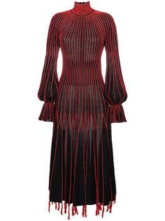 платье-водолазка с вышивкой Alexander McQueen