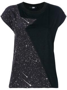панельная футболка с принтом со звездами Karl Lagerfeld