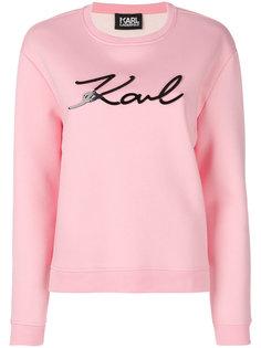толстовка с логотипом Plexi Karl Karl Lagerfeld