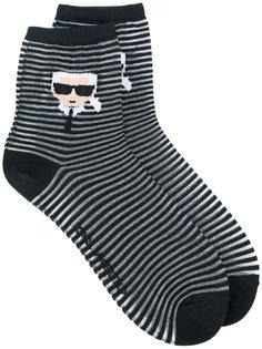 полосатые носки Ikonik Karl Lagerfeld