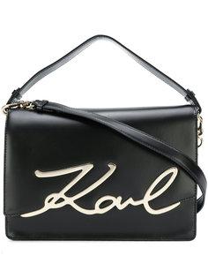 большая сумка через плечо Signature Karl Lagerfeld