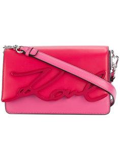 сумка на плечо K/Signature Glaze Karl Lagerfeld