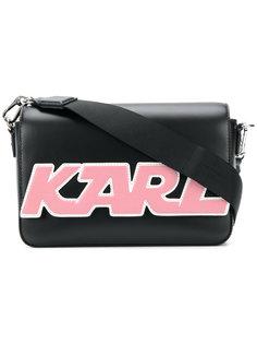 сумка на плечо с заплаткой с логотипом Karl Lagerfeld