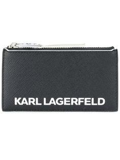 кошелек на молнии с принтом логотипа Karl Lagerfeld