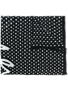 шарф с принтом со звездами Karl Lagerfeld