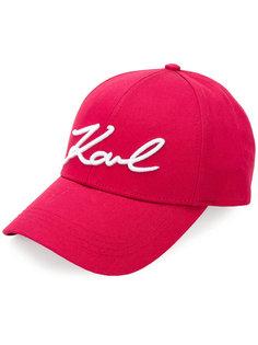 кепка Signature с логотипом Karl Lagerfeld
