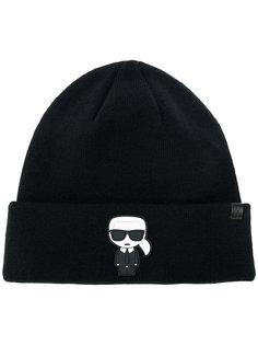 вязаная шапка Karl Ikonik Karl Lagerfeld