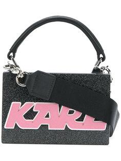 мини-сумка жесткой формы с логотипом Karl Lagerfeld