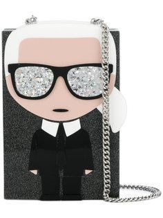 клатч Ikonik Karl Minaudiere Karl Lagerfeld