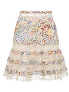 мини-юбка с кружевными вставками Zimmermann