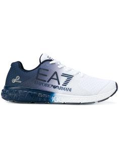 кроссовки со шнуровкой и логотипом Emporio Armani
