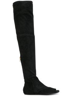 ботфорты Abysse с открытым носком Balmain