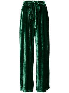 бархатные брюки с завышенной талией Roberto Collina