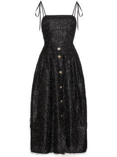 приталенное платье с бахромой Rejina Pyo