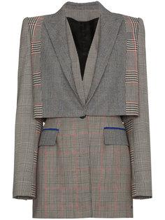 пиджак в клетку Prince of Wales Alexander McQueen