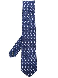 галстук с принтом тюленей Salvatore Ferragamo