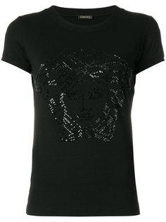 футболка с декорированной головой Медузы Versace