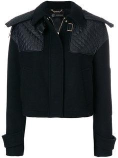 укороченная куртка со стегаными вставками Versace