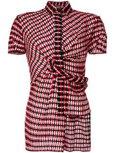 асимметричная клетчатая рубашка Versace
