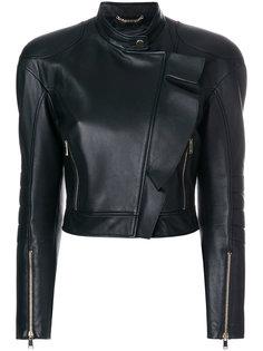 укороченная куртка в байкерском стиле Versace