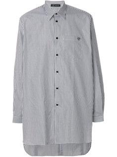 полосатая рубашка свободного кроя Versace